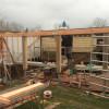 Nieuwbouw tuinhuis met veranda te Grootebroek