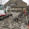 Nieuwbouw stolpboerderij met winkel aan het Oosteinde te Oostwoud.